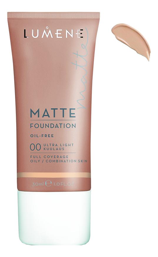 Матирующий тональный крем Matte Oil-Free Foundation 30мл: 00 Ultra Light