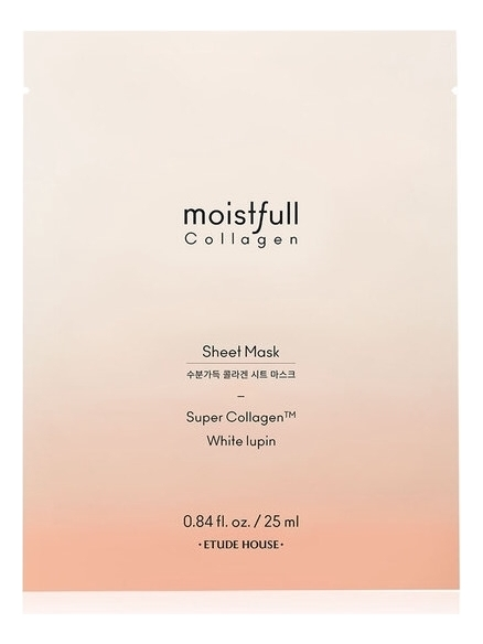 Тканевая маска для лица Moistfull Collagen Sheet Mask Super Collagen 25мл: Маска 25г moistfull collagen