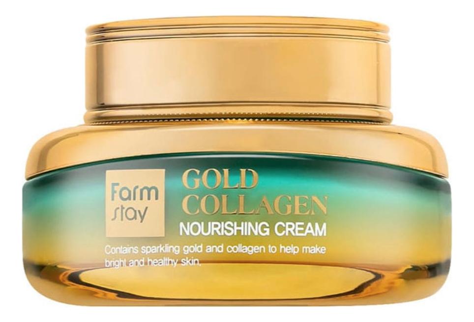 Купить Питательный крем для лица Gold Collagen Nourishing Cream 55мл, Farm Stay
