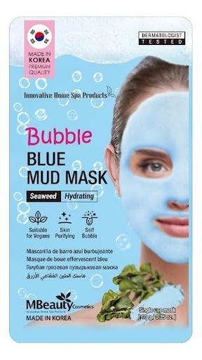 Увлажняющая пузырьковая маска для лица с глиной и морскими водорослями Bubble Blue Mud Mask 10г маска с водорослями