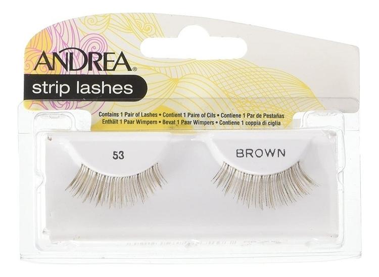 Накладные ресницы Strip Lashes Brown: No 53 nyx professional makeup накладные ресницы wicked lashes bashful 08