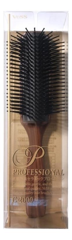 Профессиональная массажная щетка для волос с антибактериальным и антистатическим эффектом Blow Brush С-2000 недорого