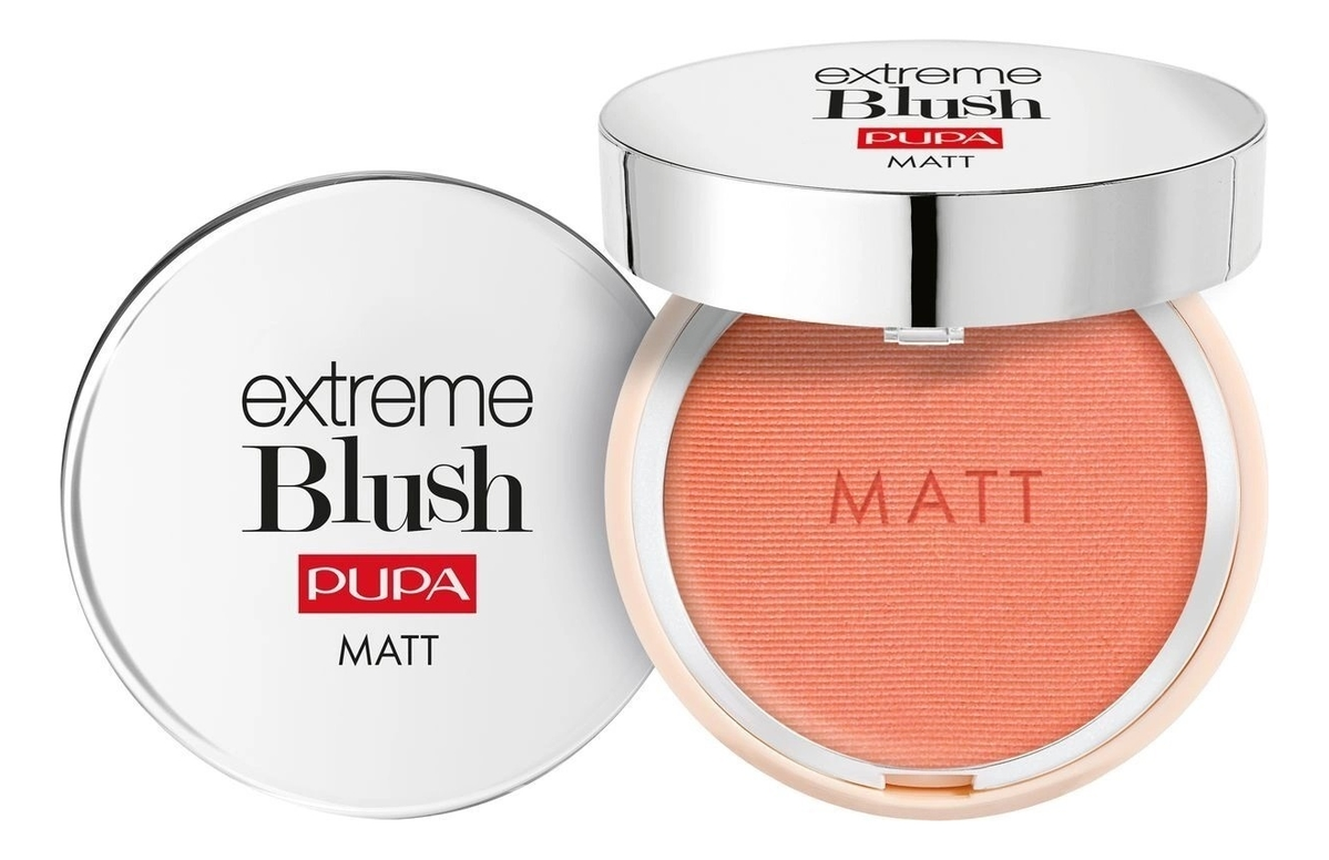 Компактные румяна с натуральным матовым эффектом Extreme Blush Matt 4г: 001 Романтичный розовый