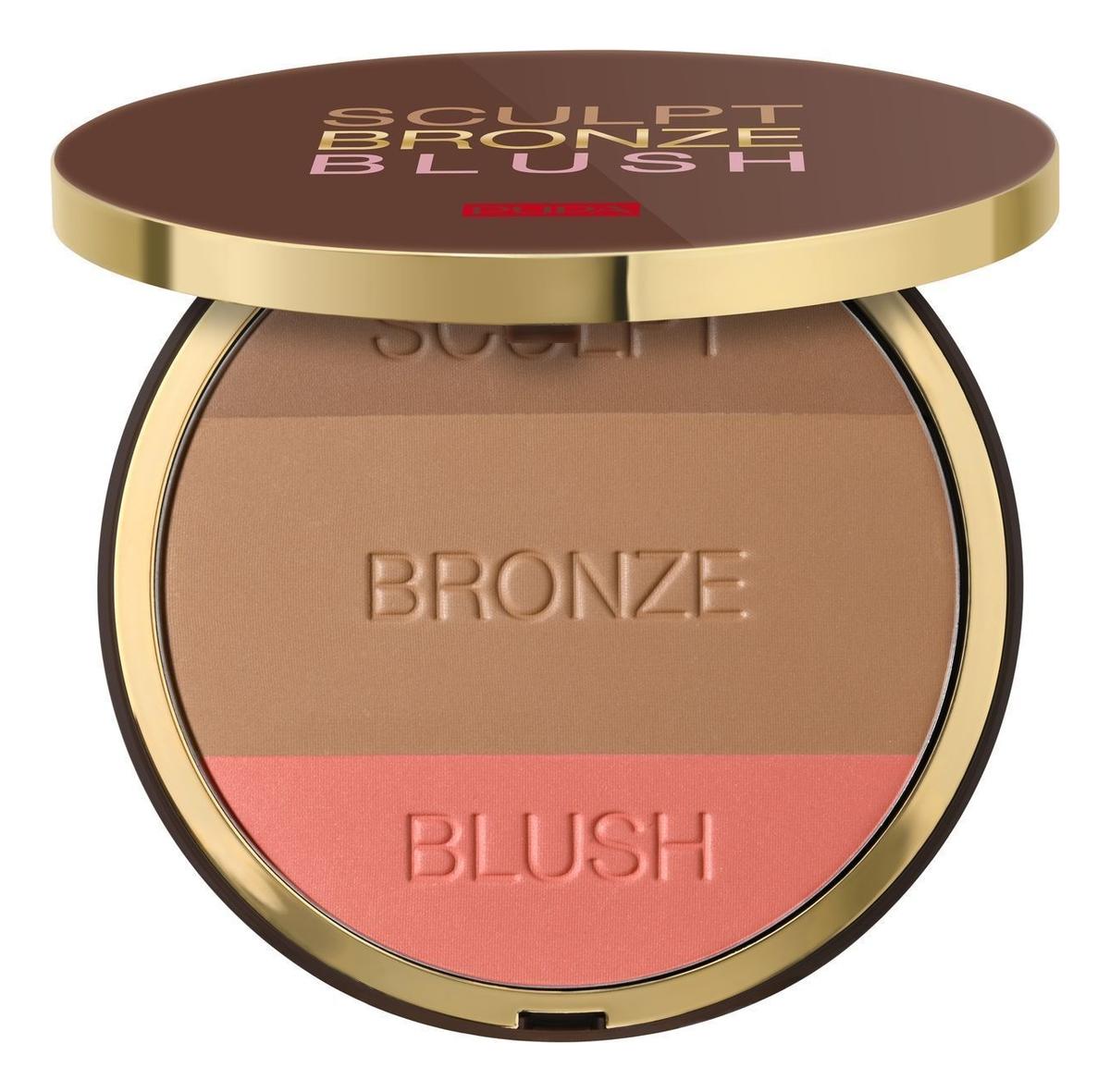 Компактная пудра 3 в 1 Sculpt Bronze Blush 30г: 001 для светлой кожи
