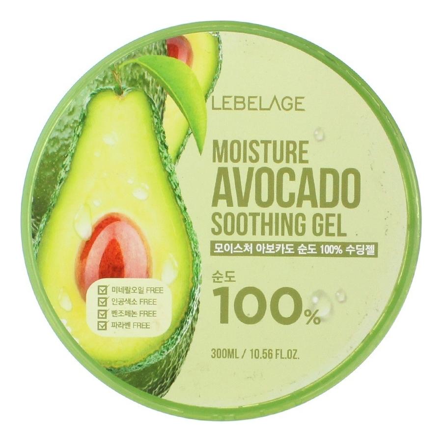 Универсальный гель с экстрактом авокадо Soothing Gel Moisture Avocado 100% 300мл гель для тела lebelage moisture avocado 100% soothing gel универсальный с экстрактом авокадо 300 мл