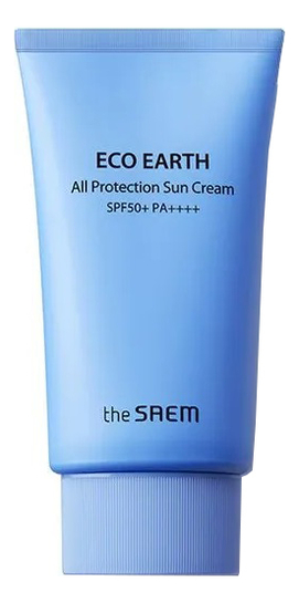 Крем для лица солнцезащитный Eco Earth All Protection Sun Cream SPF50+ PA++++ 50г недорого