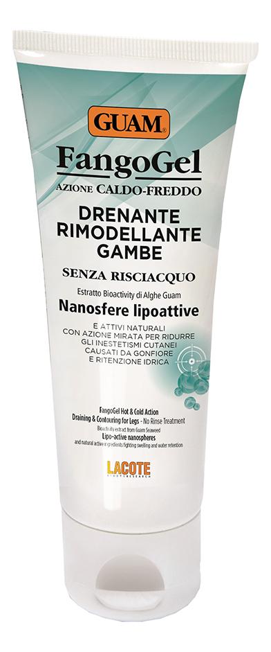 Гель для ног дренажный контрастный с липоактивными наносферами Drenante Rimodellante Gambe Fango Gel 200мл