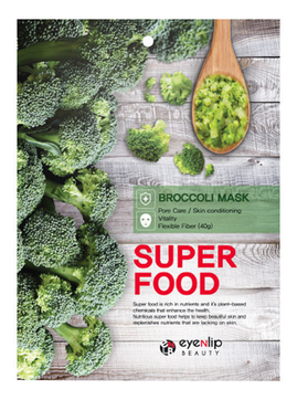 Тканевая маска для лица с экстрактом брокколи Super Food Broccoli Mask 23мл