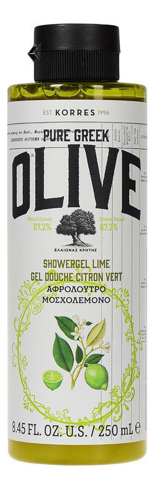Гель для душа Pure Greek Olive Showergel Lime 250мл (лайм) korres korres pure greek olive showergel honey гель для душа с медом 250 мл