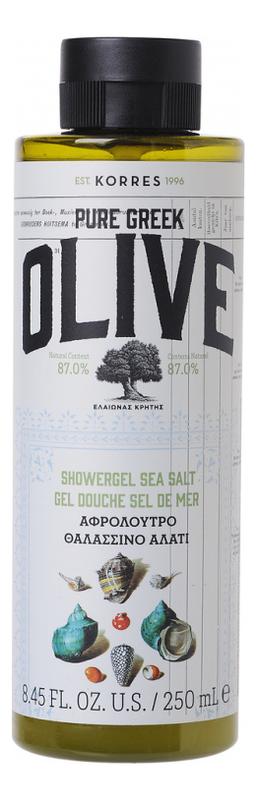 Гель для душа с морской солью Pure Greek Olive Showergel Sea Salt 250мл korres korres pure greek olive showergel honey гель для душа с медом 250 мл