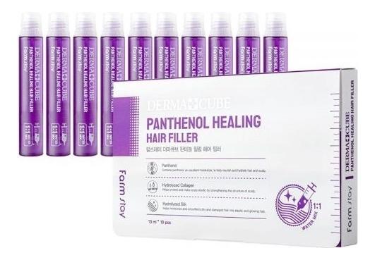 Купить Питательный филлер для волос с пантенолом Dermacube Panthenol Healing Hair Filler 10*13мл: Филлер 10*13мл, Farm Stay