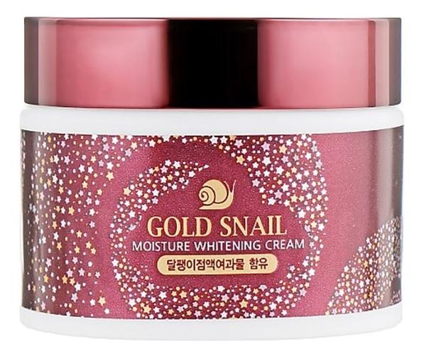Осветляющий крем для лица с муцином улитки и золотом Gold Snail Moisture Whitening Cream 50г