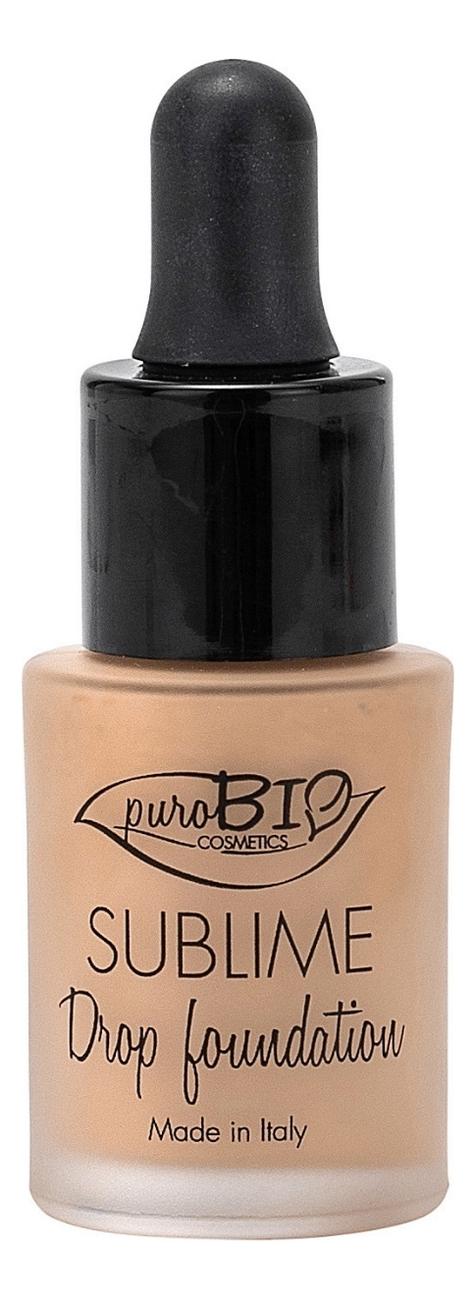 Купить Жидкая тональная основа для лица Sublime Drop Foundation 15мл: No 03, puroBIO
