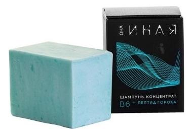 Купить Твердый шампунь-концентрат для волос В6 + пептид гороха Она Иная 70г, Мастерская Олеси Мустаевой