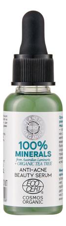 Сыворотка для проблемной кожи лица 100% Minerals Anti-Acne Beauty Serum 30мл