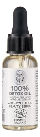 Купить Защитная сыворотка для лица 100% Detox Oil Anti-Pollution Beauty Serum 30мл, Planeta Organica