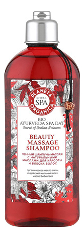 Пенный шампунь-массаж для волос Bio Ayurvede Spa Day Beauty Massage Shampoo 270мл