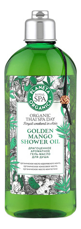 Купить Гель-масло для душа Organic Thai Spa Day Golden Mango Shower Oil 270мл, Planeta Organica
