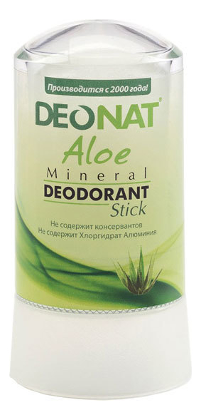 Дезодорант-кристалл с экстрактом алоэ вера Aloe Mineral Deodorant Stick: Дезодорант 60г
