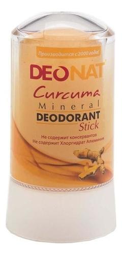 Дезодорант-кристалл с куркумой Curcuma Mineral Deodorant Stick: Дезодорант 60г
