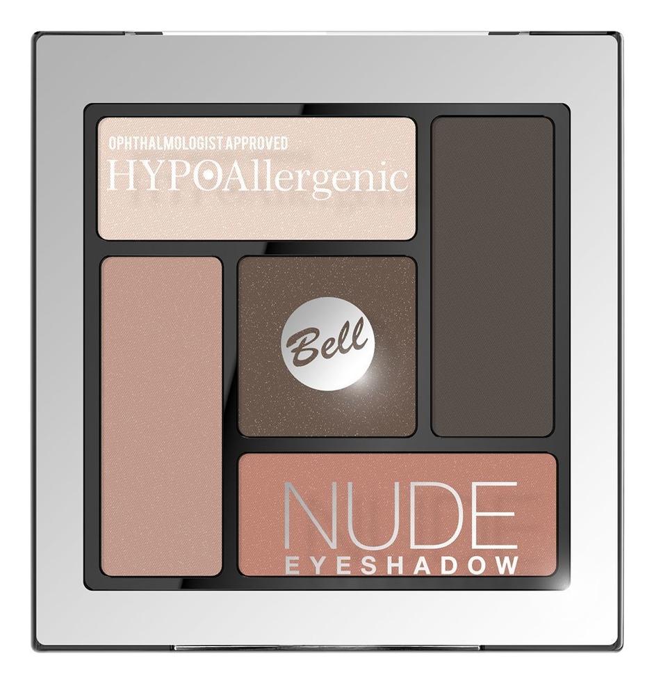 Тени для век сатиново-кремовые Hypoallergenic Nude Eyeshadow 5г: No 3 недорого