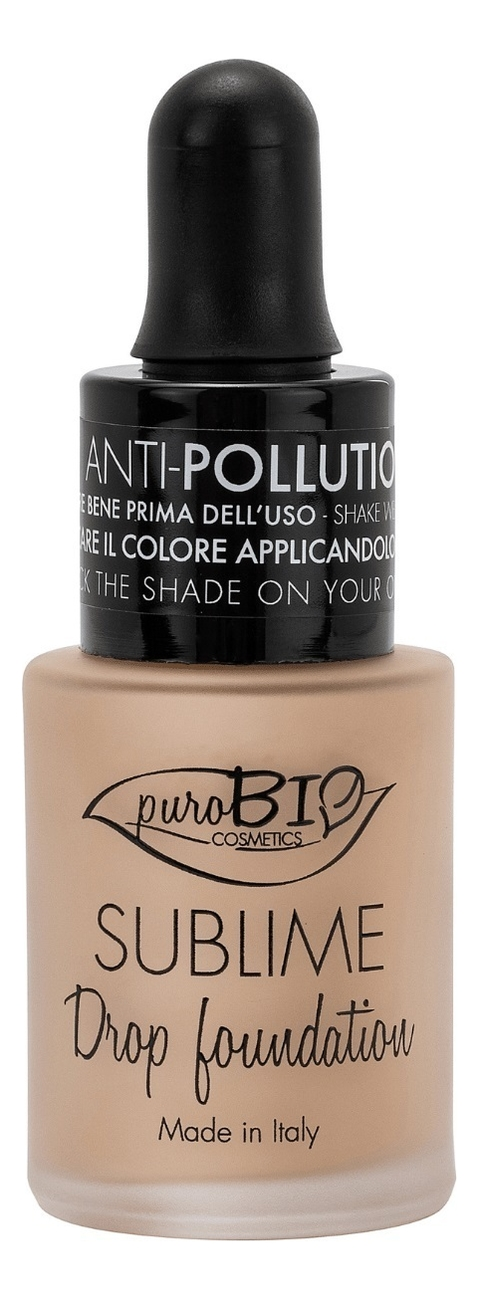 Купить Жидкая тональная основа для лица Sublime Drop Foundation 15мл: No 03Y, puroBIO