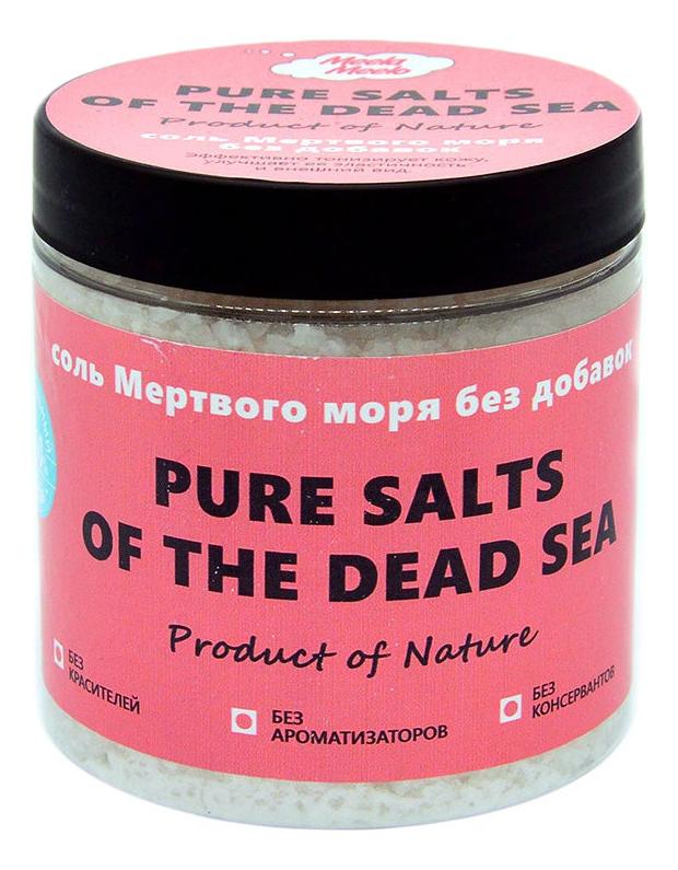 Фото - Соль Мертвого моря без добавок Pure Salts Of The Dead Sea 500г meela meelo соль мертвого моря с лавандой и геранью 500 мл