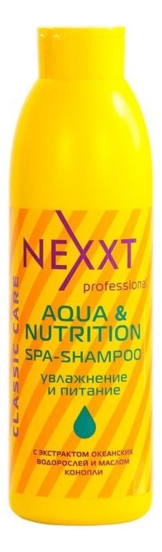 Шампунь для волос Увлажнение и питание Spa-Shampoo Aqua And Nutrition: 1000мл