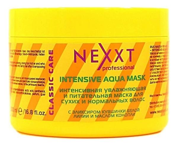 Купить Интенсивная увлажняющая и питательная маска для сухих и нормальных волос Intensive Aqua Mask: Маска 500мл, NEXXT Professional