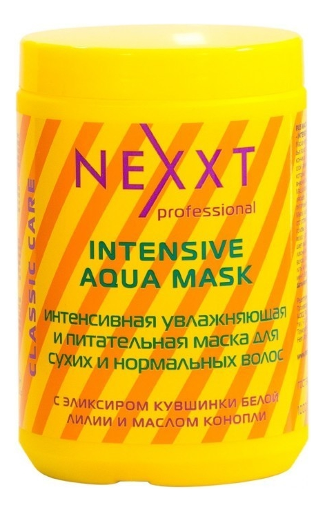 Купить Интенсивная увлажняющая и питательная маска для сухих и нормальных волос Intensive Aqua Mask: Маска 1000мл, NEXXT Professional