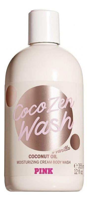 Купить Гель-крем для душа с кокосовым маслом и ароматом ванили Pink Coco Zen Wash Coconut Oil 355мл, Victorias Secret