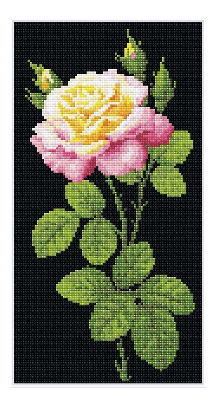 Алмазная мозаика Дивный цветок (20х38см)