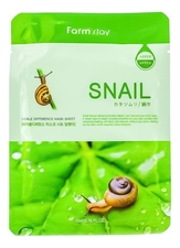 Farm Stay Тканевая маска для лица с муцином улитки Visible Difference Mask Sheet Snail 23мл