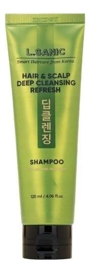 Освежающий шампунь для глубокого очищения волос и кожи головы Hair & Scalp Deep Cleansing Refresh Shampoo 120мл освежающий шампунь для кожи головы hair clinic scalp care deep cleansing shampoo шампунь 180мл