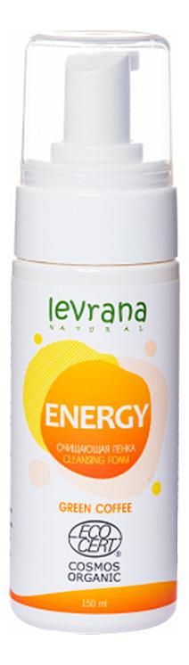 Купить Очищающая пенка для умывания с экстрактом зеленого кофе Energy Cleansing Foam: Пенка 150мл, Levrana