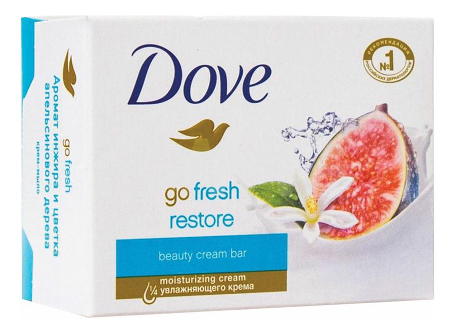 Купить Крем-мыло Инжир и лепестки апельсина Go Fresh Restore: Мыло 100г, Dove