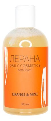 Фото - Пена для ванны с ароматом апельсина и свежей мяты Bath Foam Orange & Mint 300мл funs спрей для ванной комнаты с ароматом апельсина и мяты 0 38 л