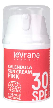 Купить Солнцезащитный крем для тела с гидролатом календулы Calendula Sun Cream Pink 50мл: Крем SPF30, Levrana