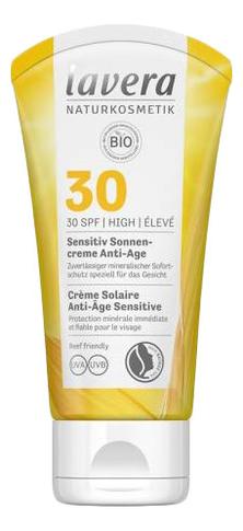 Купить Солнцезащитный крем для лица антивозрастной Creme Solaire Anti-Age Sensitive SPF30 50мл, Lavera