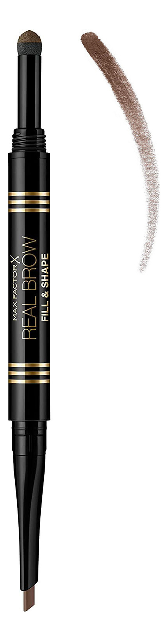 Купить Пудра-карандаш для бровей Real Brow Fill & Shape Pencil 0, 66г: 02 Soft Brown, Пудра-карандаш для бровей Real Brow Fill & Shape Pencil 0, 66г, Max Factor