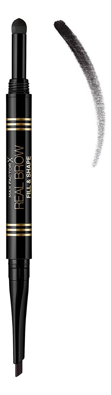 Купить Пудра-карандаш для бровей Real Brow Fill & Shape Pencil 0, 66г: 05 Black Brown, Пудра-карандаш для бровей Real Brow Fill & Shape Pencil 0, 66г, Max Factor
