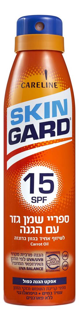 Солнцезащитный масло-спрей для загара на основе морковного масла 200мл: Масло-спрей SPF15 масло моркови для загара