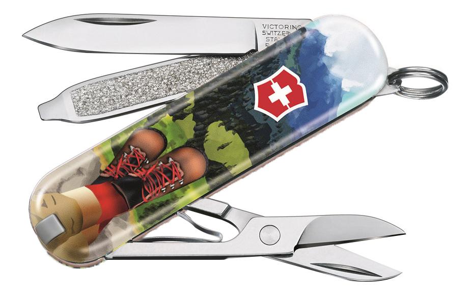 Нож-брелок Classic I Love Hiking 58мм, 7 функций 0.6223.L2002 appella 484 1005