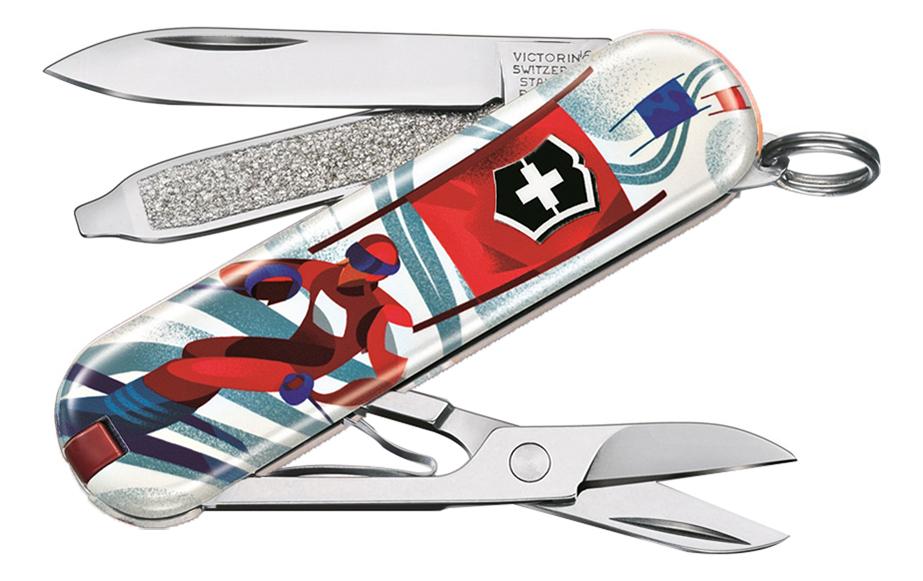 Нож-брелок Classic Ski Race 58мм, 7 функций 0.6223.L2008 складной нож victorinox classic le2020 ski race 7 функций 58мм синий рисунок