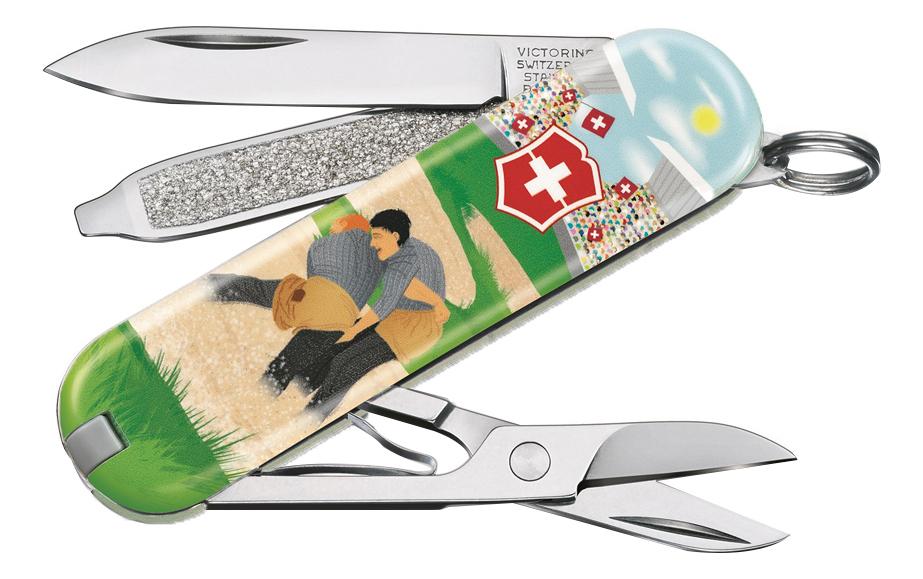 Нож-брелок Classic Swiss Wrestling 58мм, 7 функций 0.6223.L2009