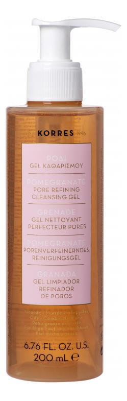 Очищающий поры гель для лица Pomegranate Pore Refining Cleansing Gel 200мл недорого