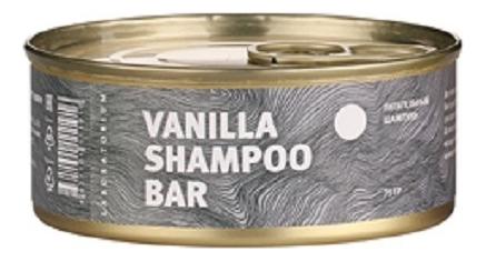 Твердый шампунь для волос Ванильный Vanilla Shampoo Bar 75г твердый шампунь для волос пребиотики и лемонграсс lemongrass shampoo bar 75г