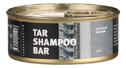 Твердый шампунь для волос Дегтярный Tar Shampoo Bar 75г твердый шампунь для волос пребиотики и лемонграсс lemongrass shampoo bar 75г