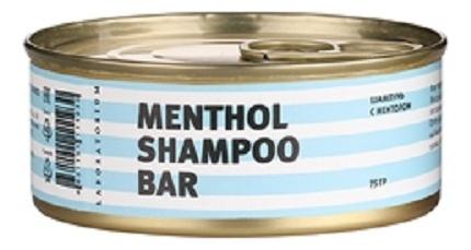 Твердый шампунь для волос Ментоловый Menthol Shampoo Bar 75г твердый шампунь для волос пребиотики и лемонграсс lemongrass shampoo bar 75г