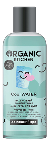 Купить Тонизирующий аква-гель для душа Organic Kitchen Cool Water 270мл, Organic Shop